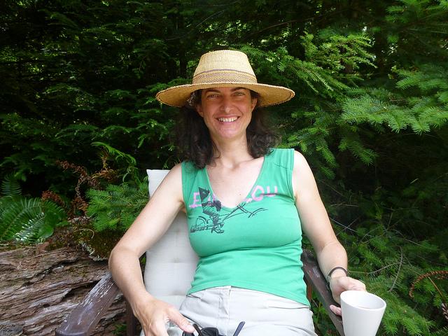 Julia Relaxing in the Sun